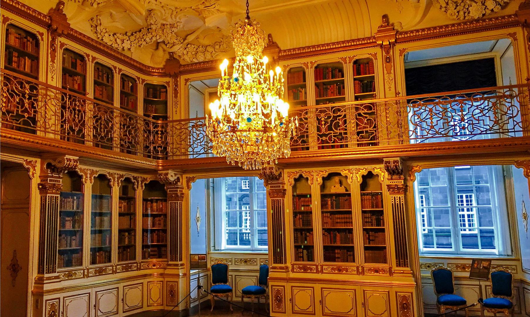 Экспозиция внутри замка Кристиансборг, Копенгаген