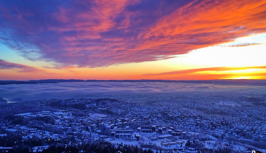 Панорама Осло из Хольменколлена
