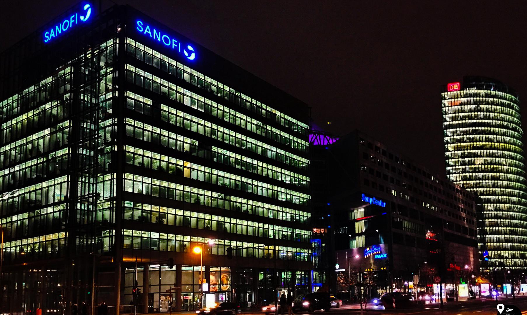 Центр Берлина ночью