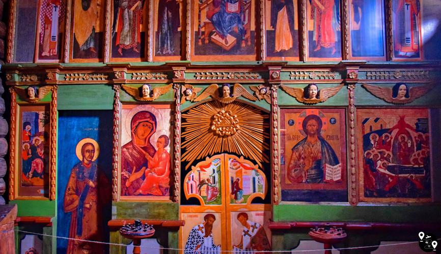 Деревянные росписи в храме, Витославлицы