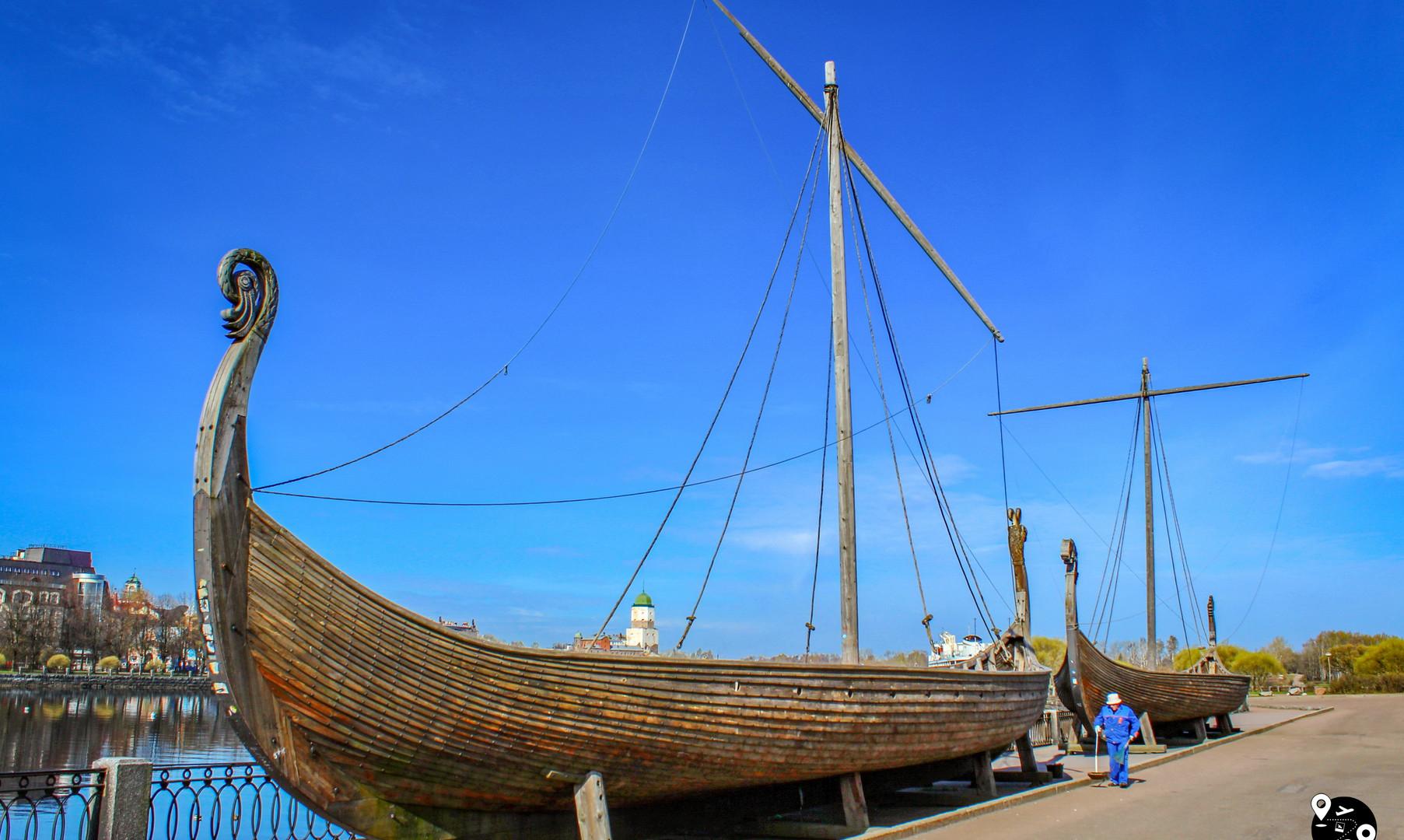 Ладьи викингов, Выборг