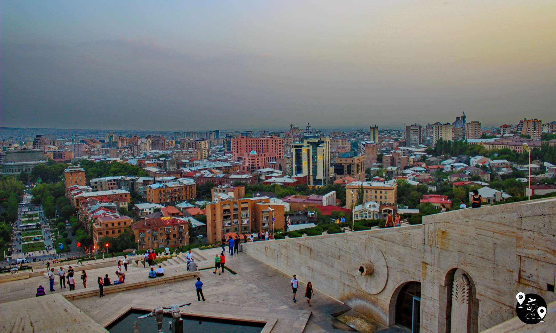 Панорама Еревана с каскада