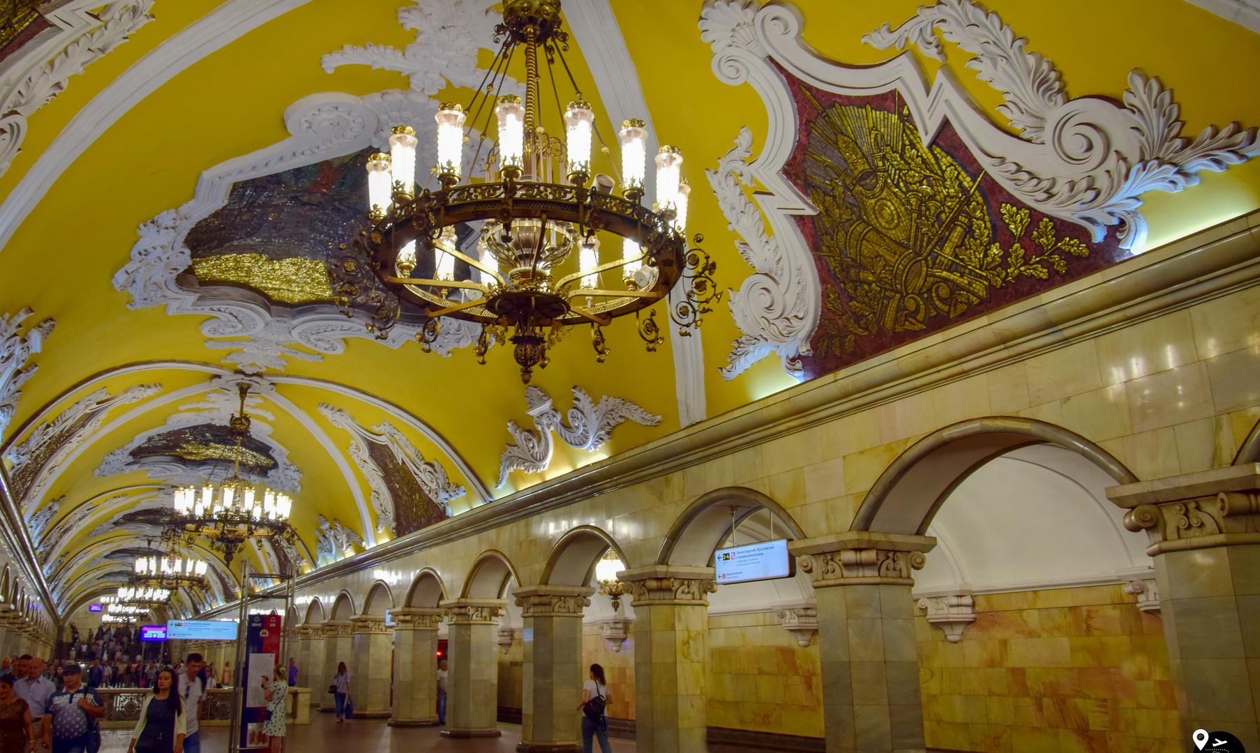 Московское метро (ст. Комсомольская)