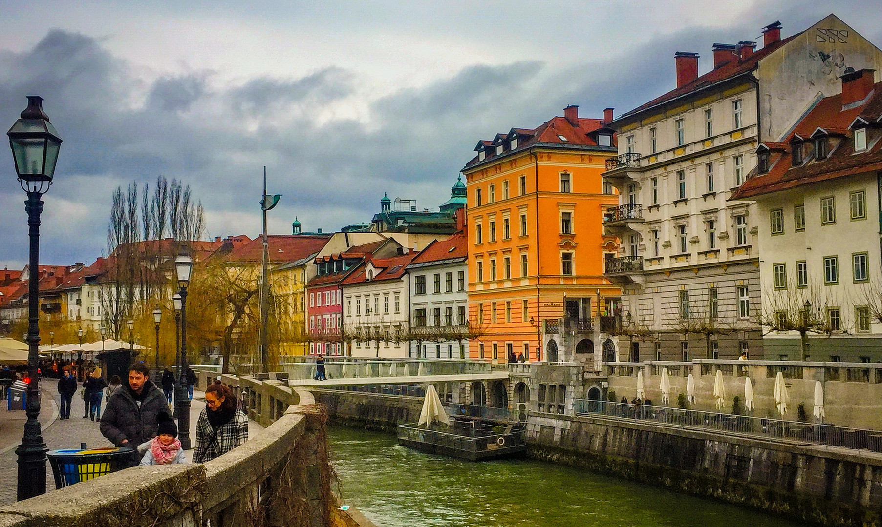 Набережная реки Любляницы в Любляне