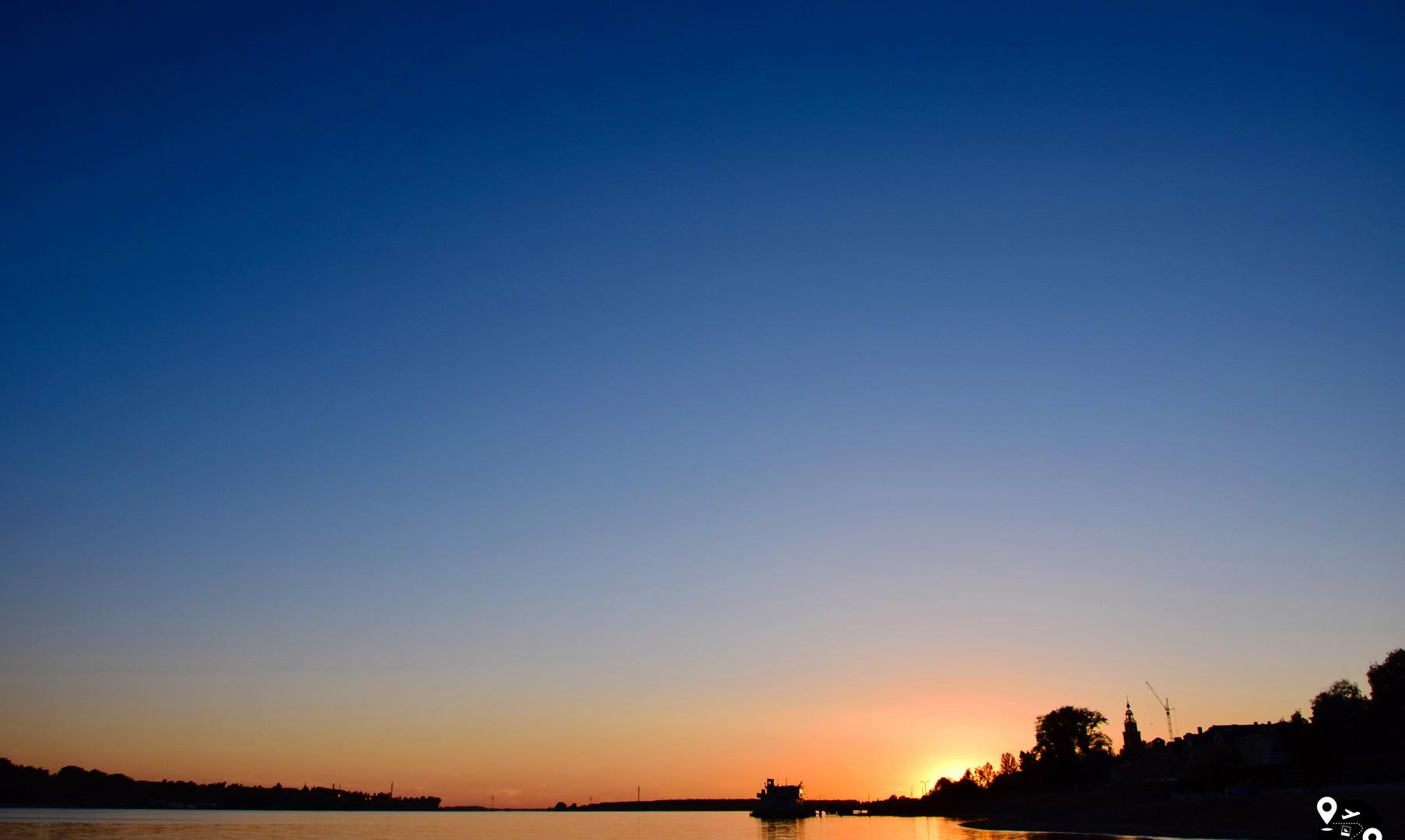 Sunset on the Volga River, Kostroma