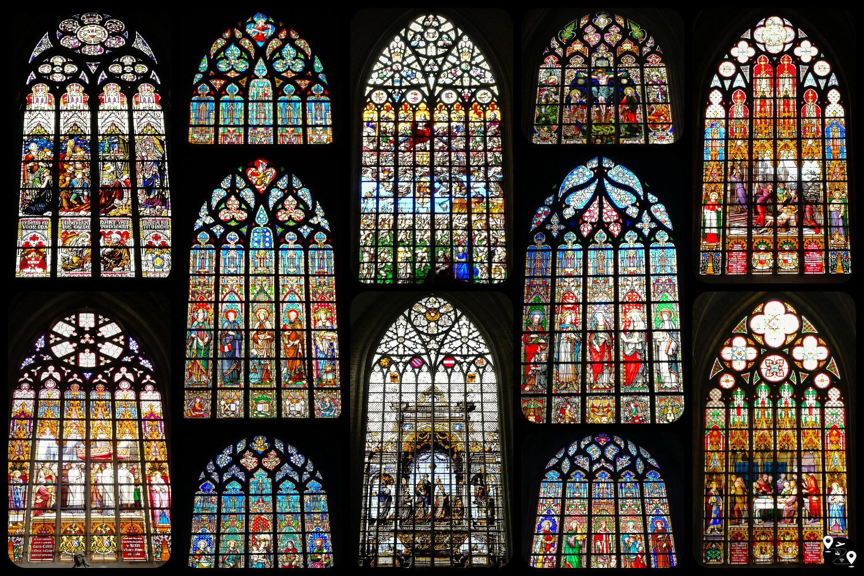 Витражи в католических соборах Брюсселя