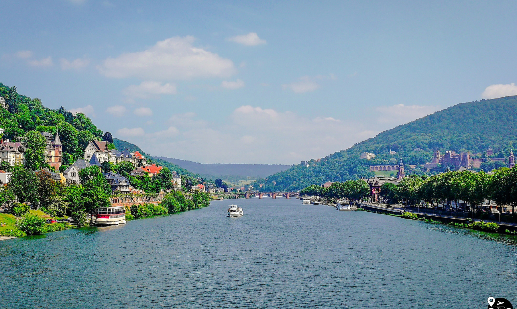 Панорама реки Неккар, Гейдельберг