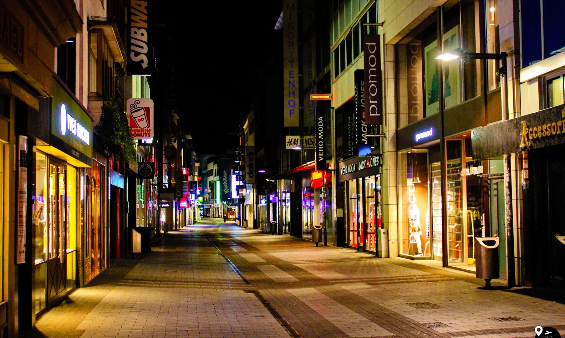 Ночные улицы Кельна