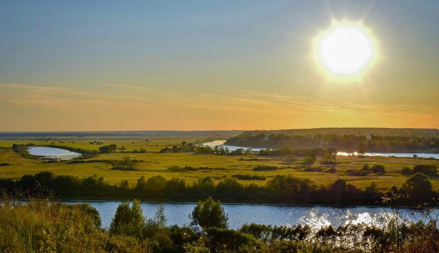 Река Ока в Рязанской области