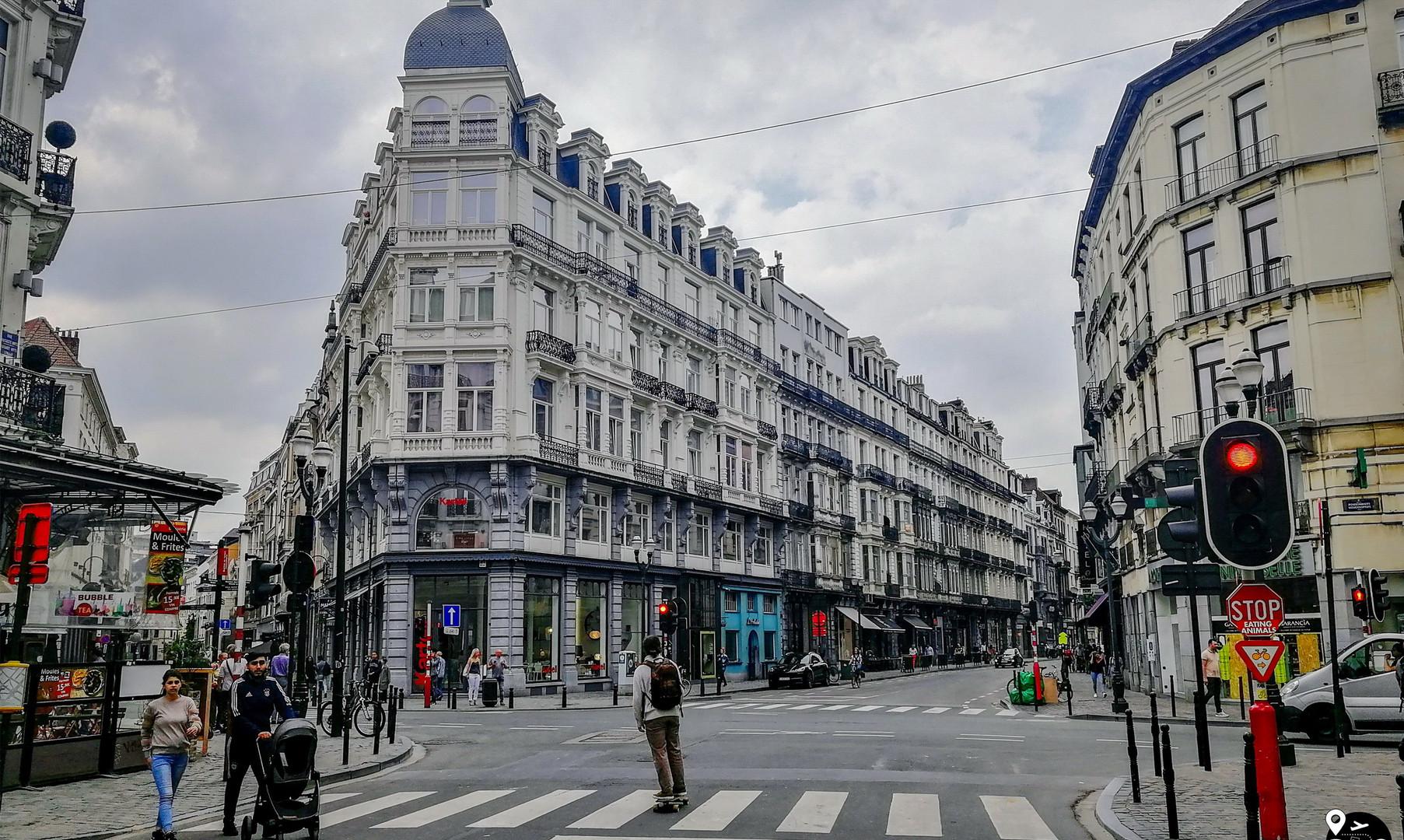 Центральные улицы Брюсселя