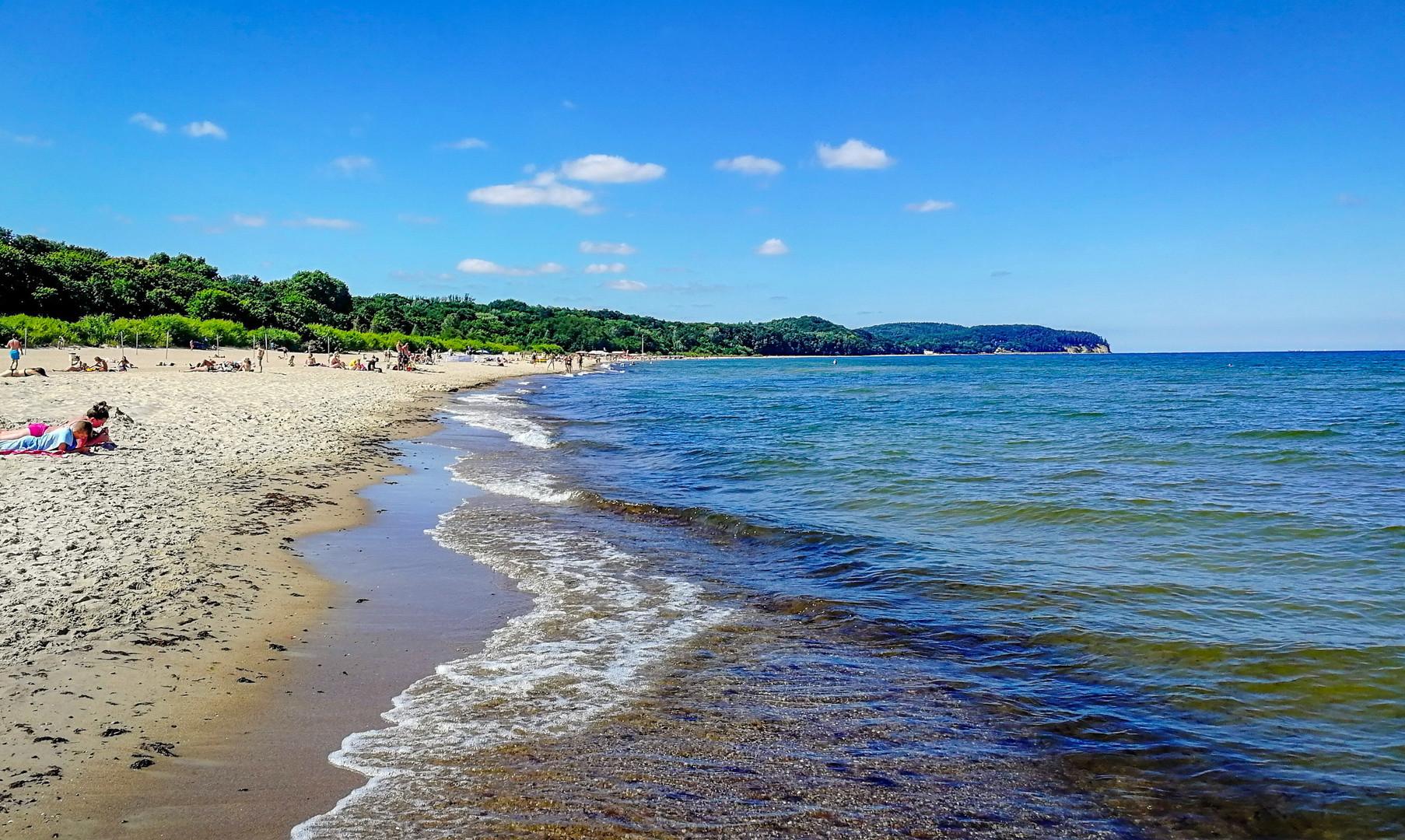 Пляж в Сопоте