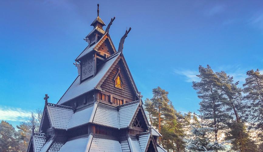 Норвежская архитектура в музее истории культуры, Осло
