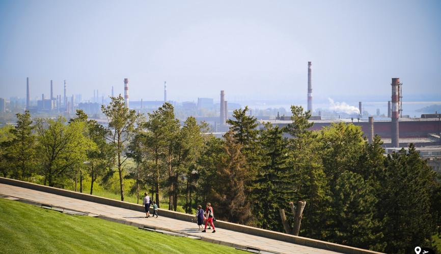 Пейзажи заводов Волгограда