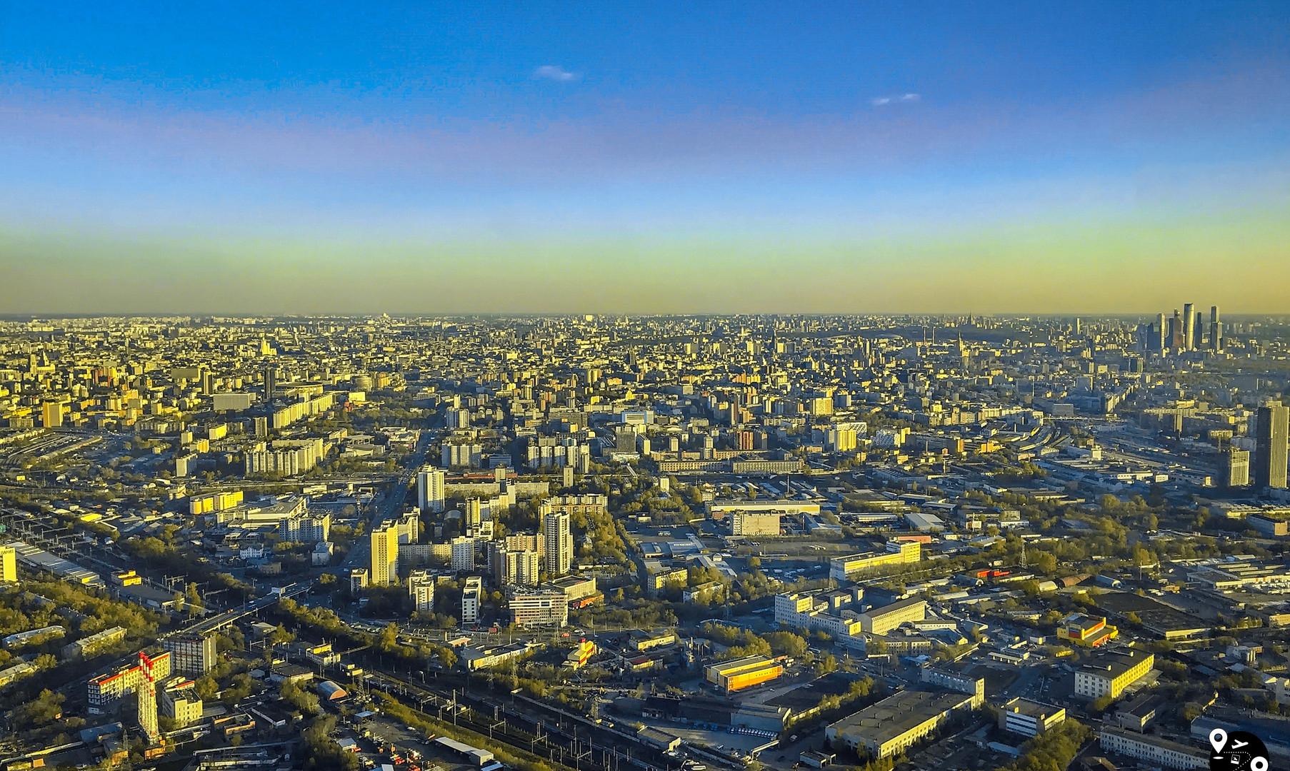 Панорама Москвы с Останкинской башни