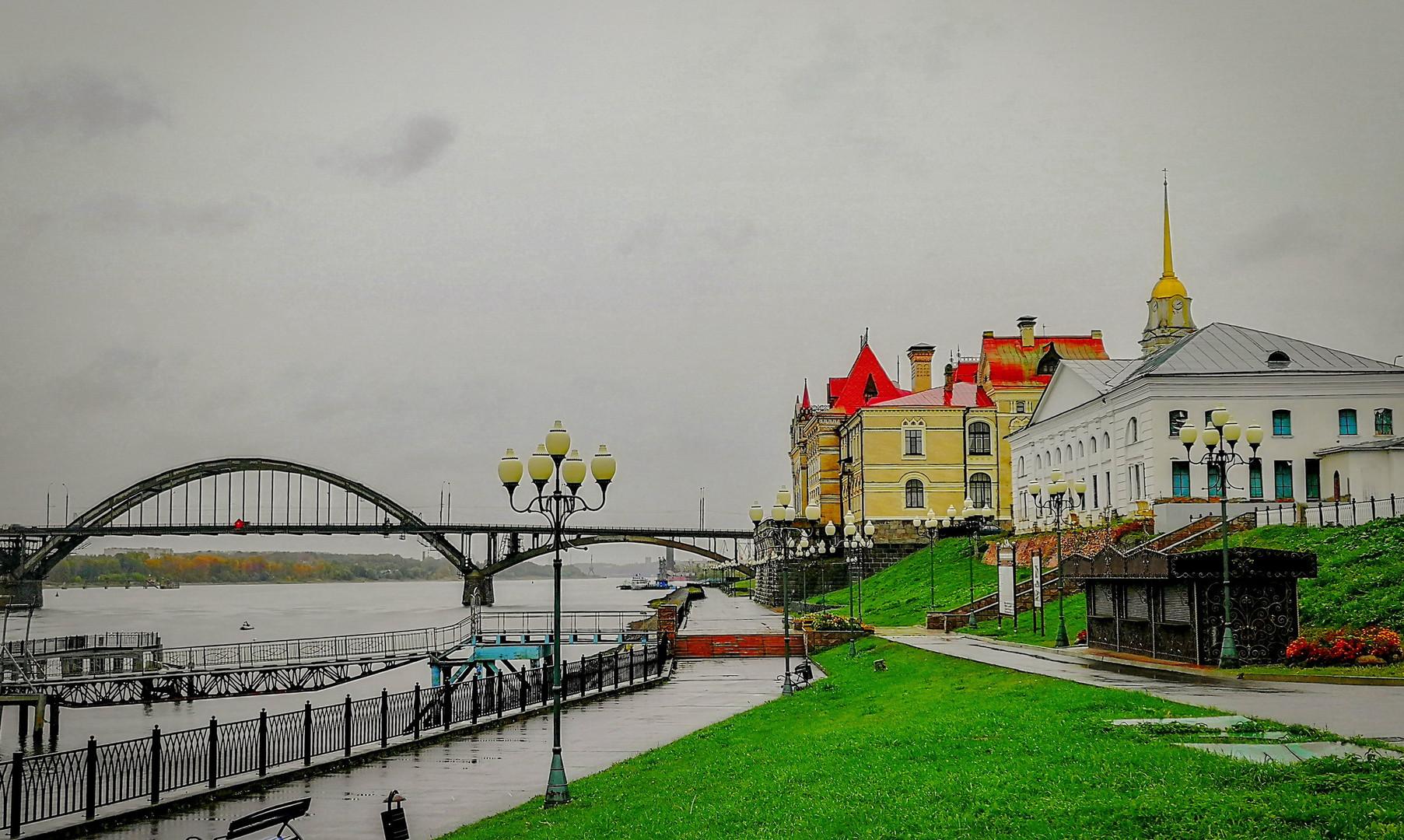 Набережная Волги в Рыбинске
