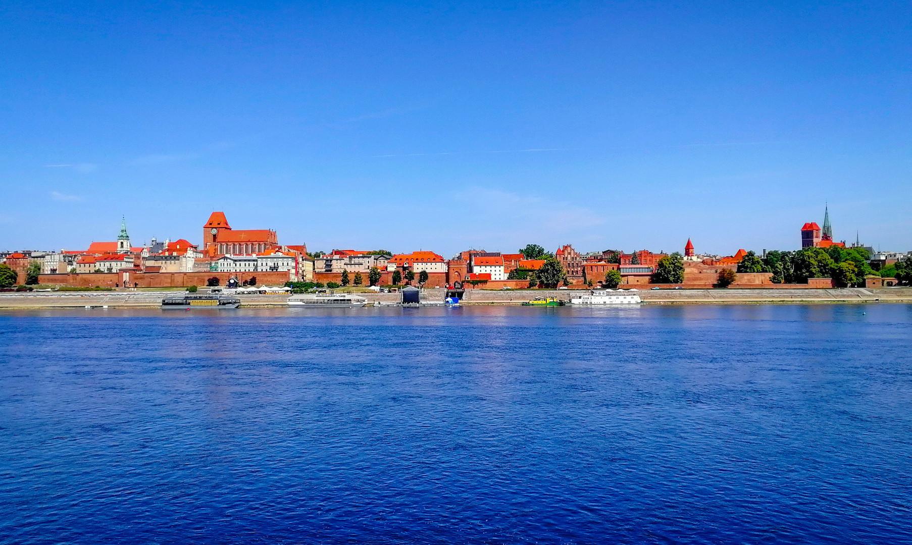 Панорама города Торунь