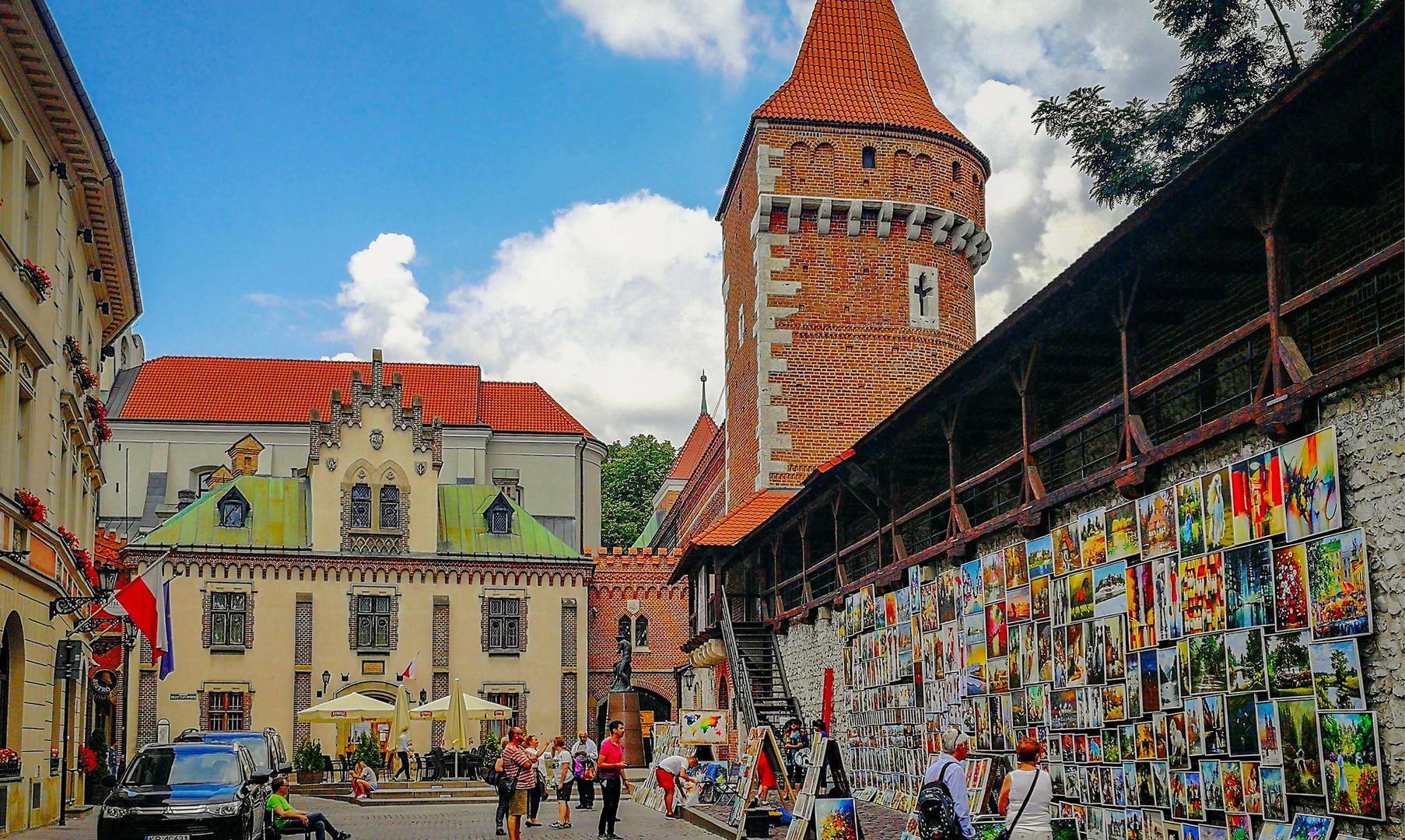 Стены крепости Кракова