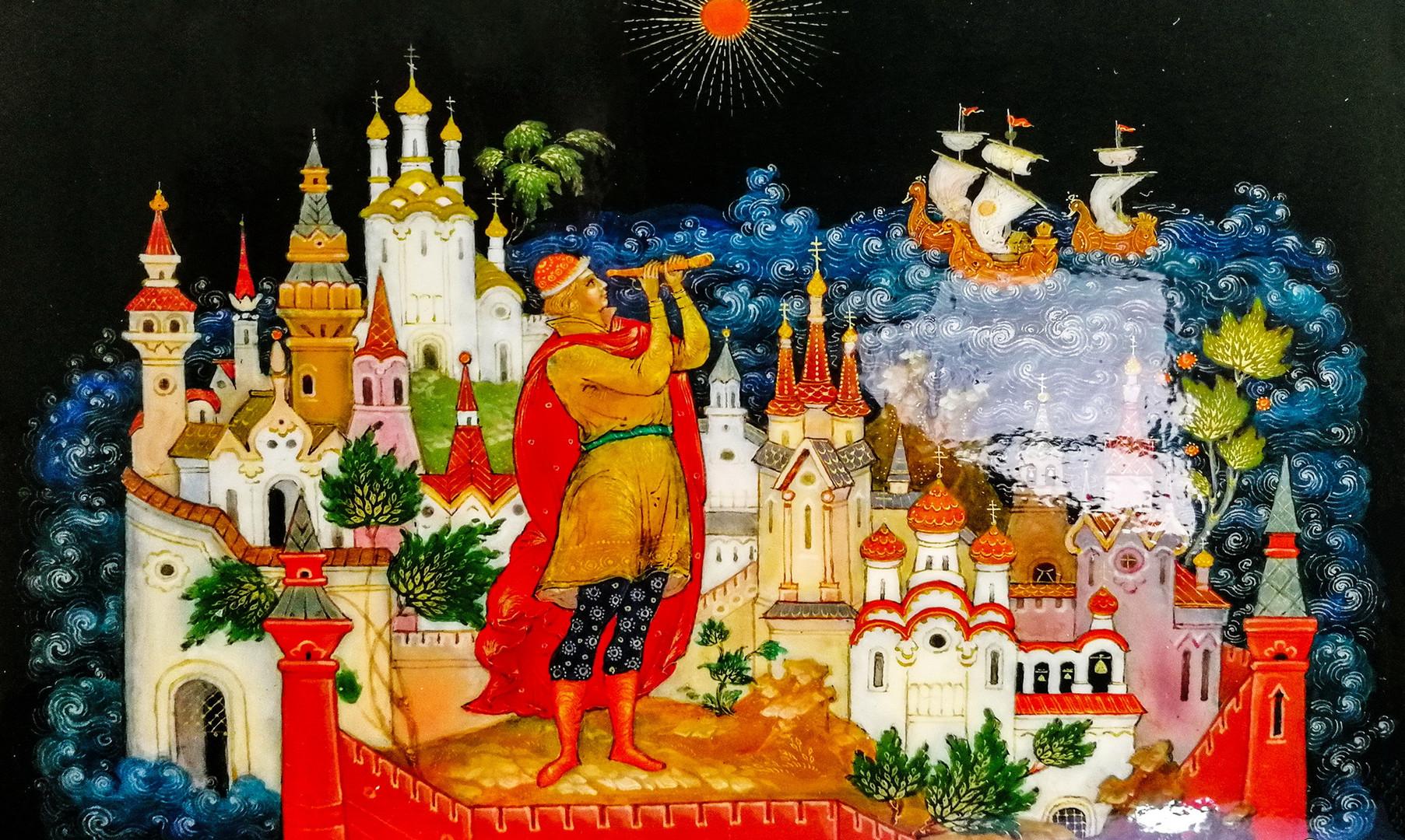 Палехская роспись в музее Палеха