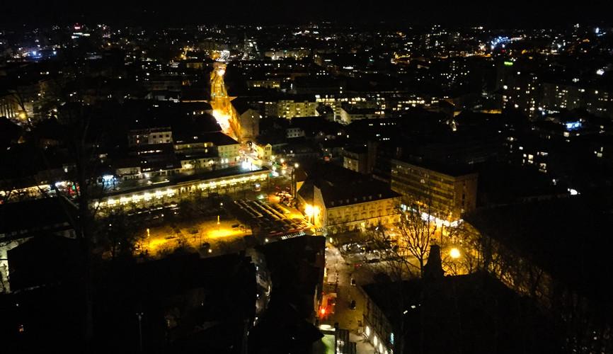 Панорама ночной Любляны