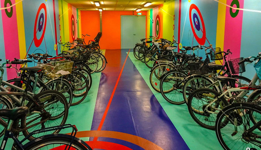 Парковка для велосипедов в метро, Копенгаген