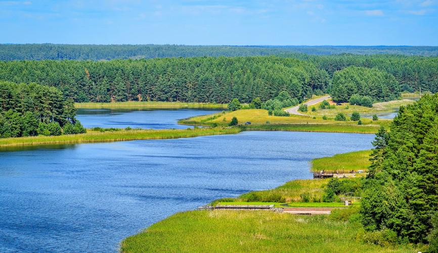 Панорама озера Селигер