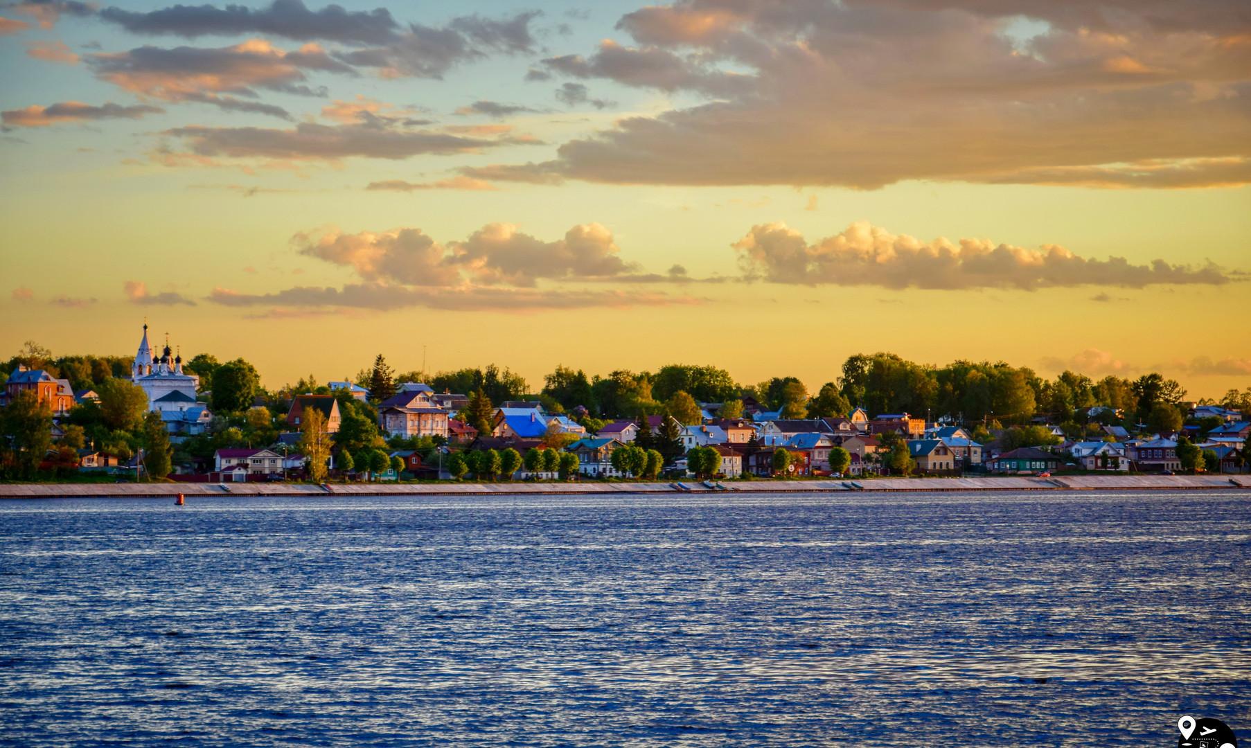 Пейзажи Волги в Костроме