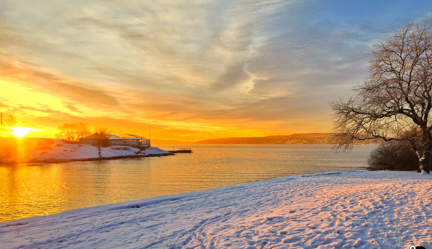 Залив Осло на рассвете