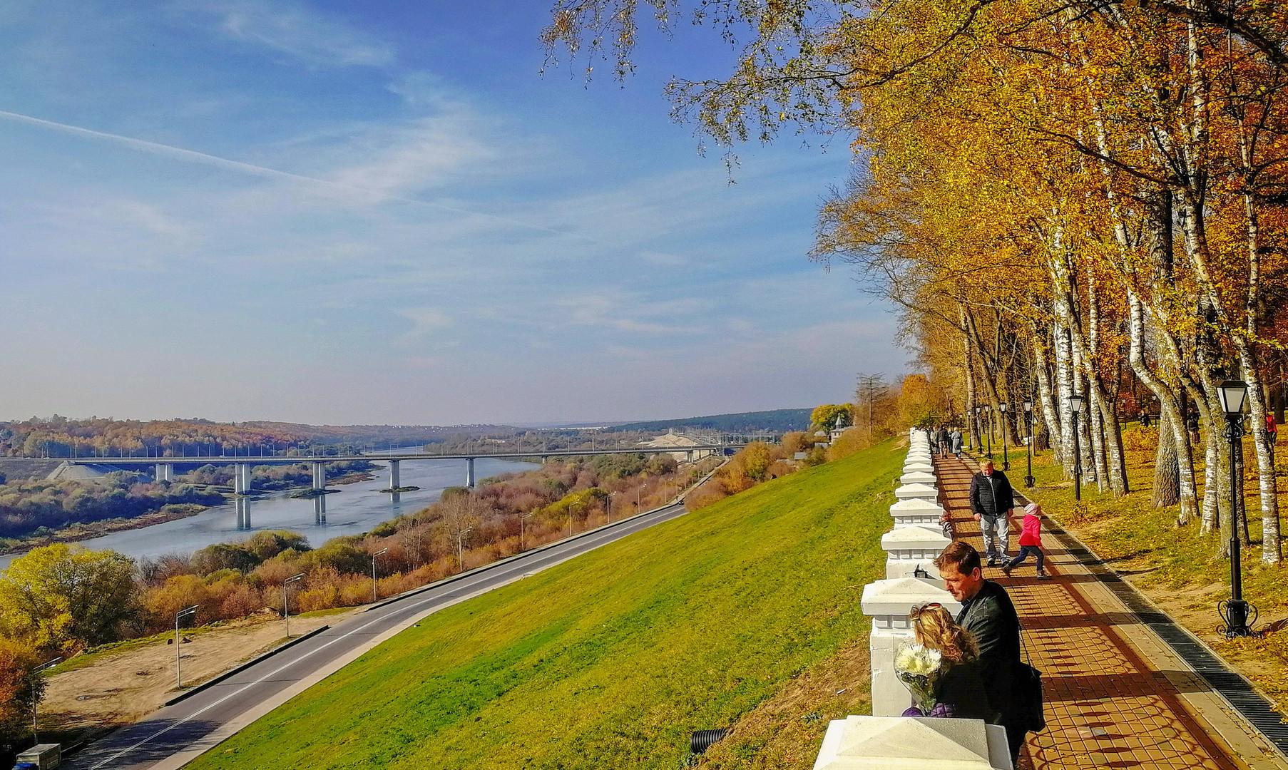 Вид на реку Оку, Калуга