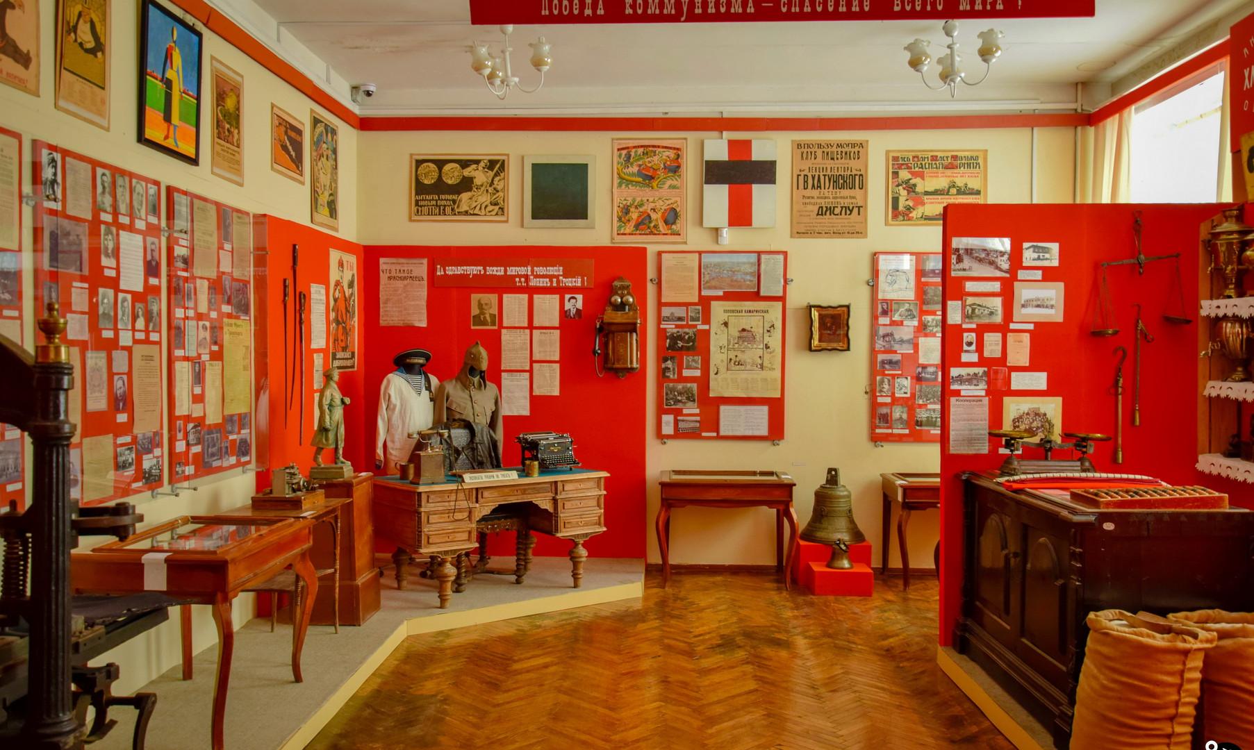 Экспозиция краеведческого музея, Липецк