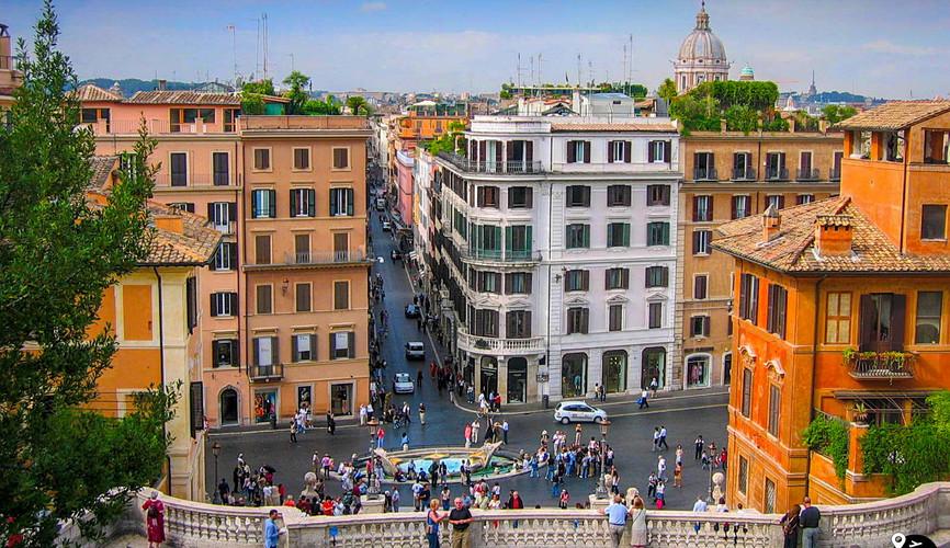 Вид с Испанской лестницы, Рим
