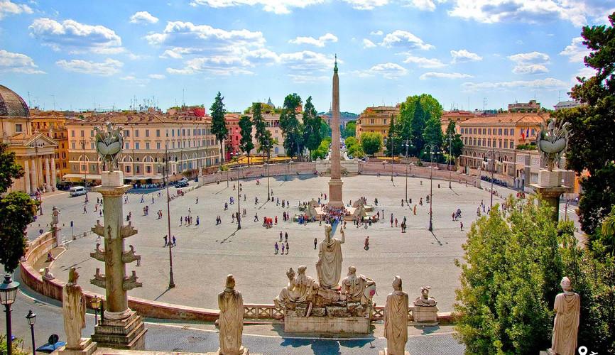 Площадь Пьяцца дель Пополо, Рим