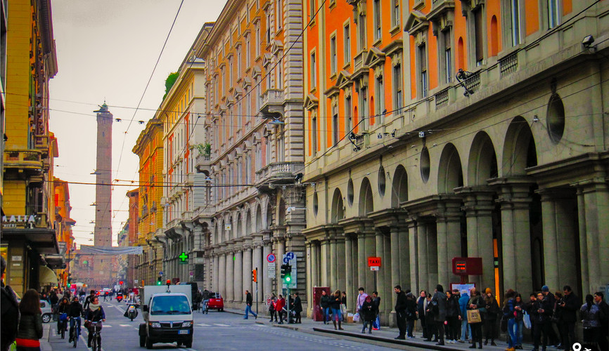 Центр города Болонья