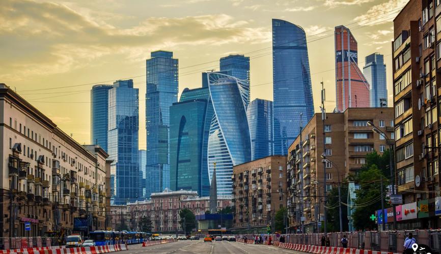 """Панорама делового центра """"Москва-Сити"""""""