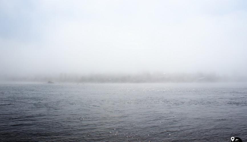 Туман над Ладожским озером