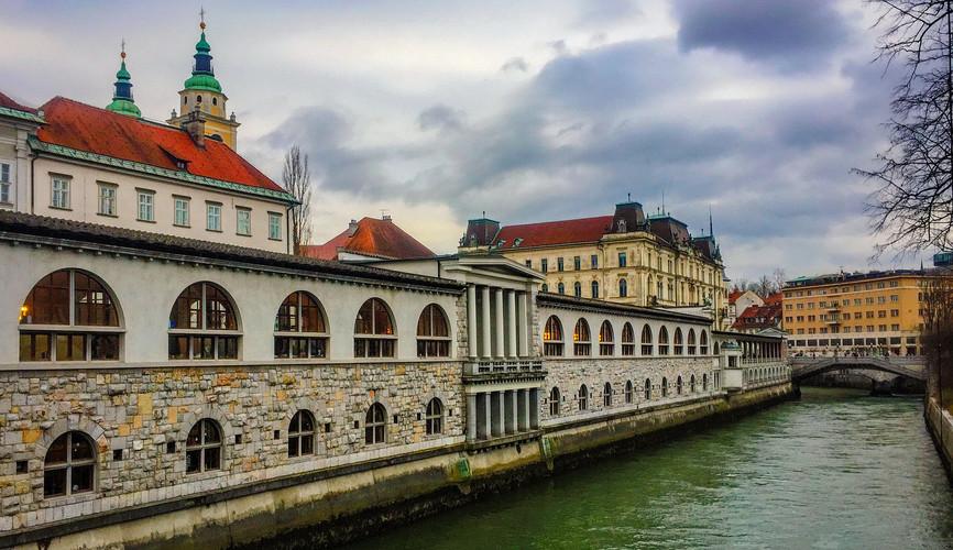 Рыночные ряды в Любляне