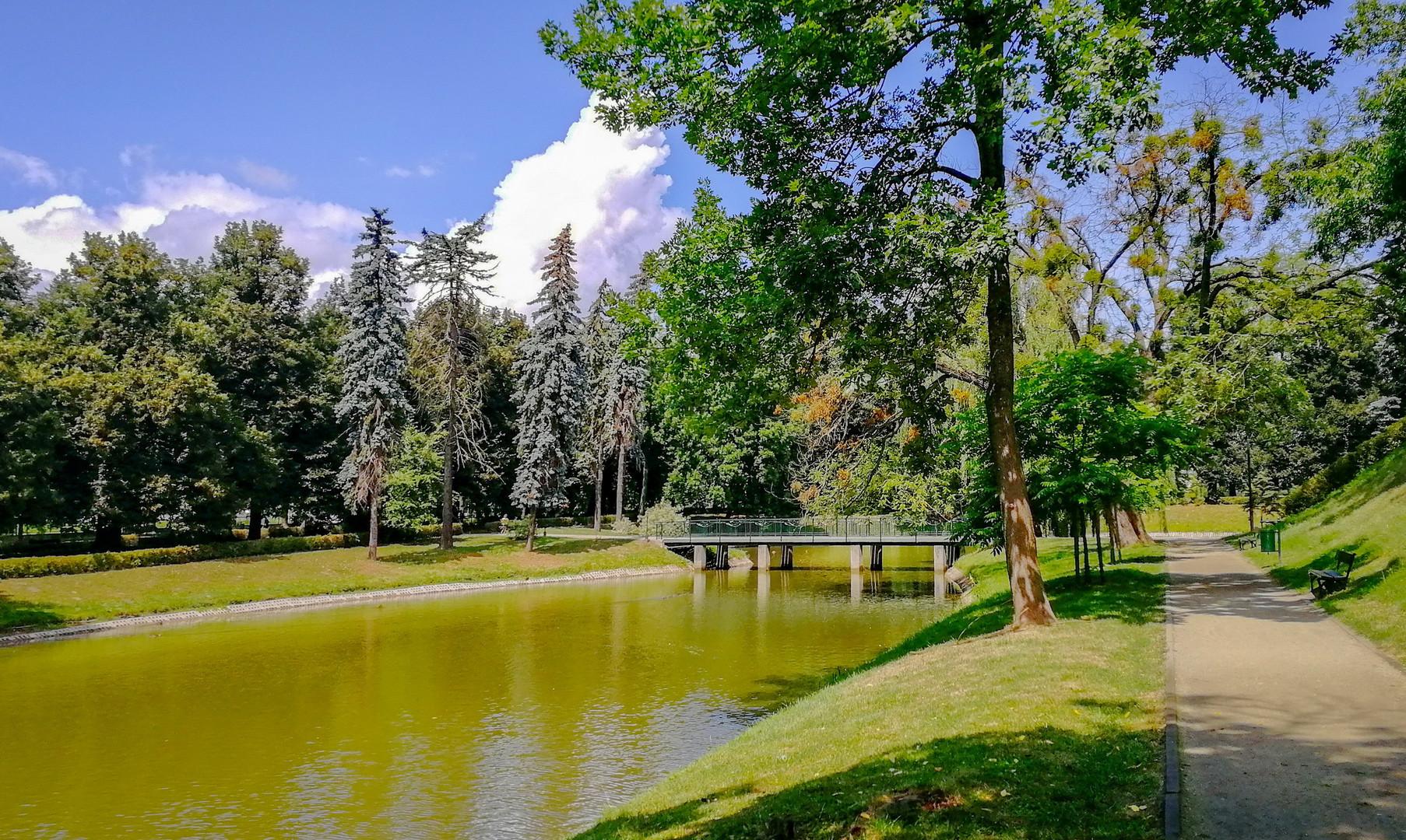 Аллеи в парке Замосци