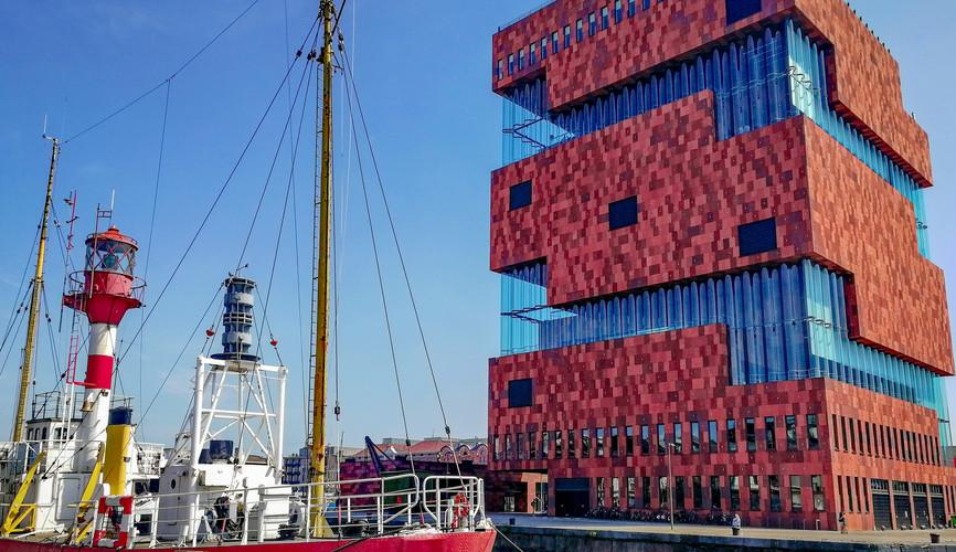 Старый порт и музей современного искусства, Антверпен
