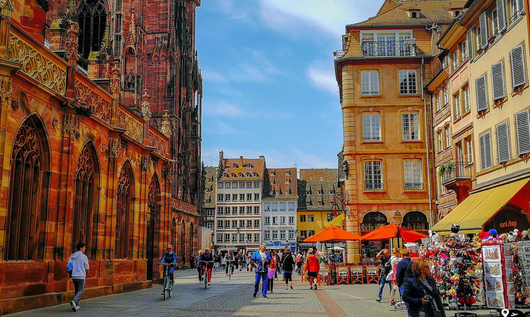 Площадь перед собором, Страсбург