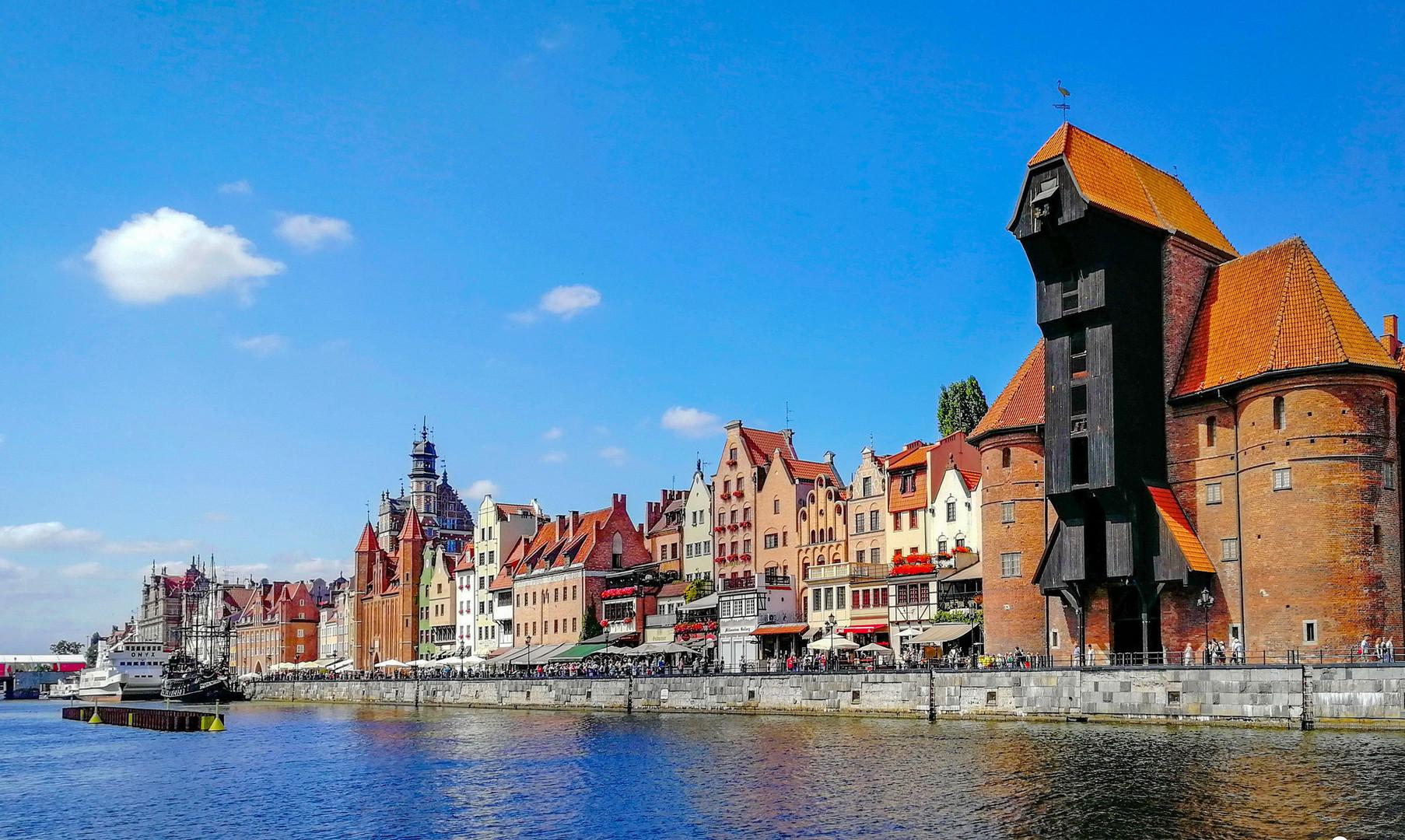 Панорама прибрежного Гданьска