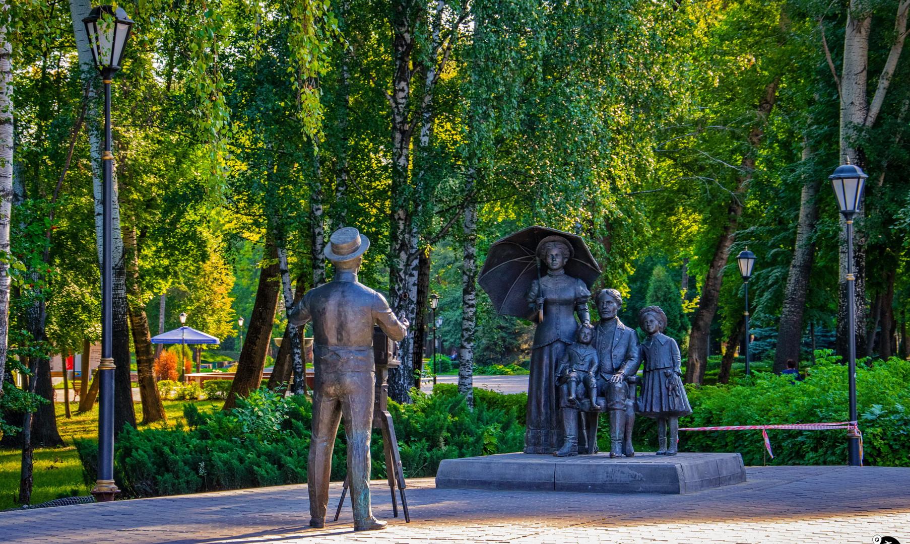 Композиция в Нижнем парке, Липецк