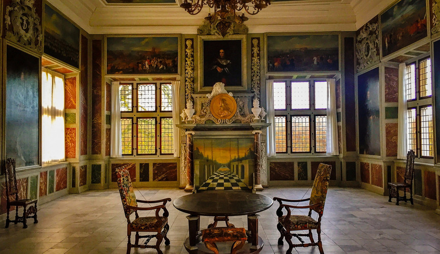 Экспозиция внутри замка Фредериксборг, Хиллерёд