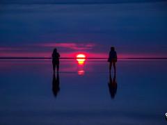 Закат на озере Эльтон