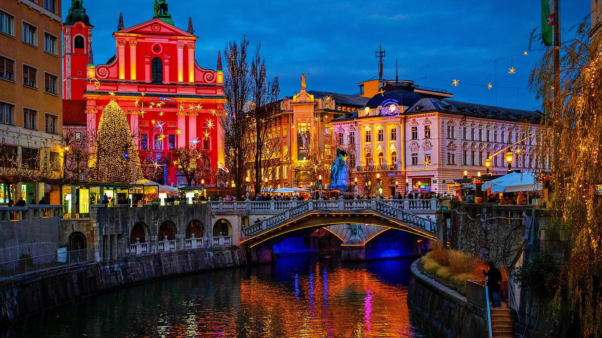 Набережная реки Любляница, Любляна