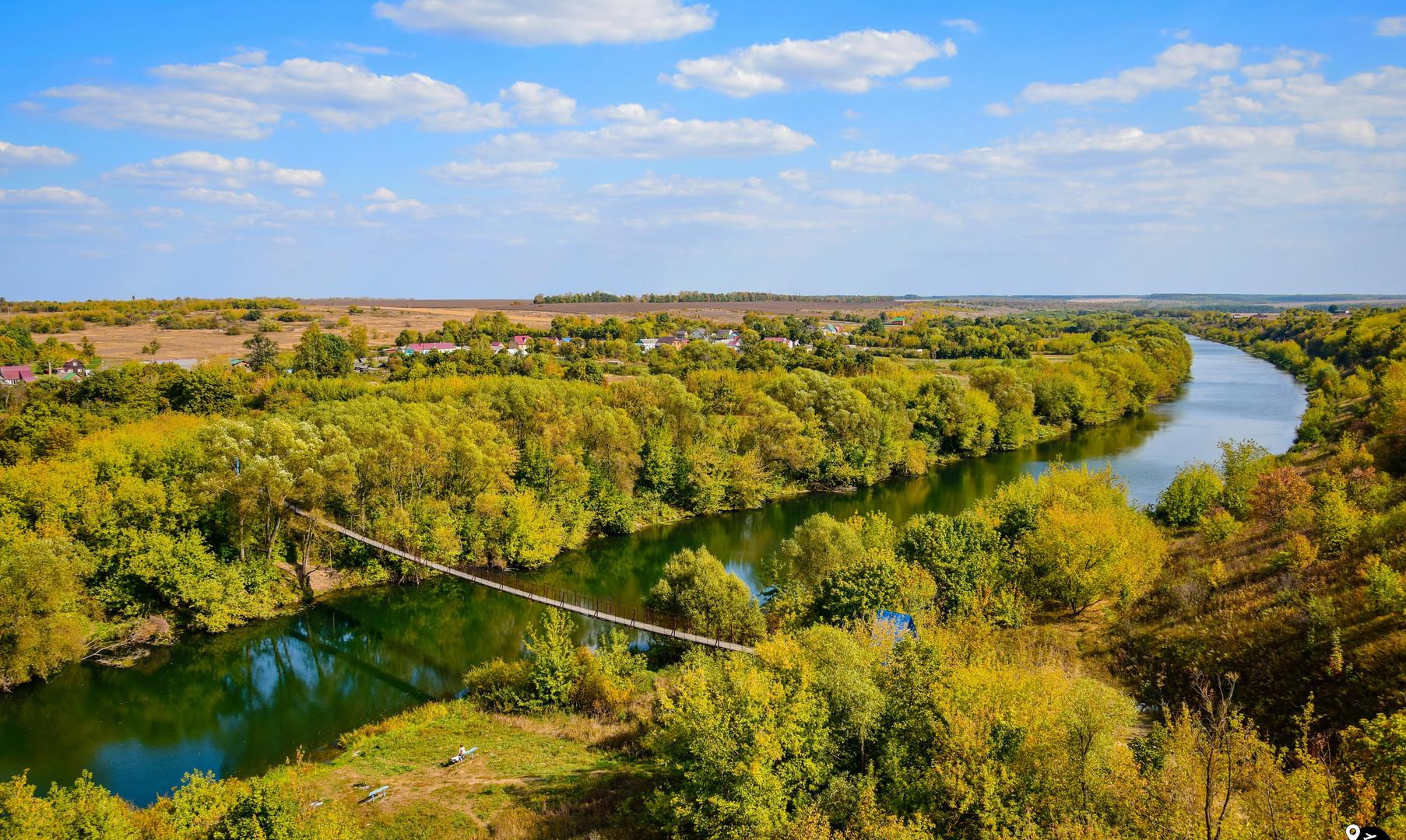 Подвесной мост через реку Дон, Волотово