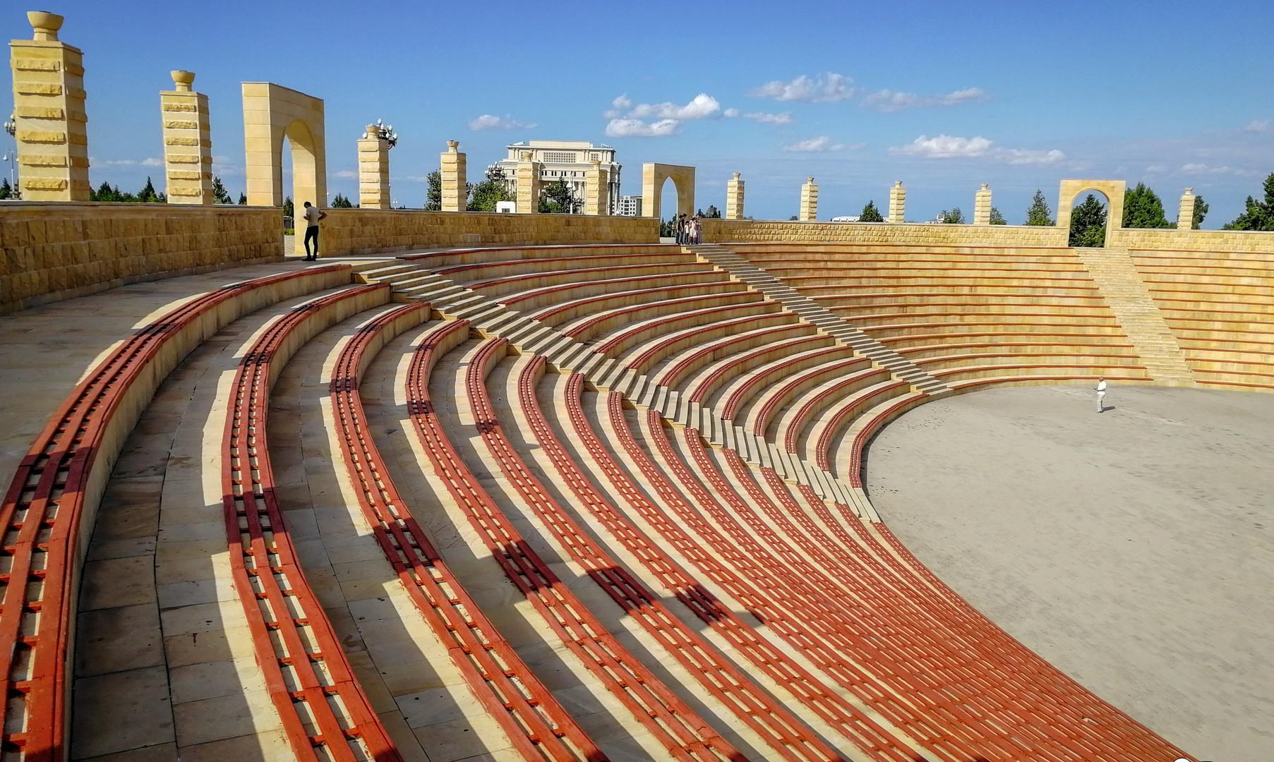 Амфитеатр в парке Гейдара Алиева, Гянджа