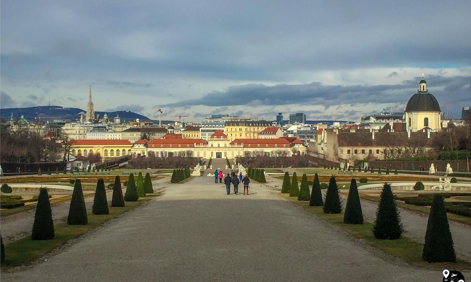 Сады дворца Бельведер, Вена