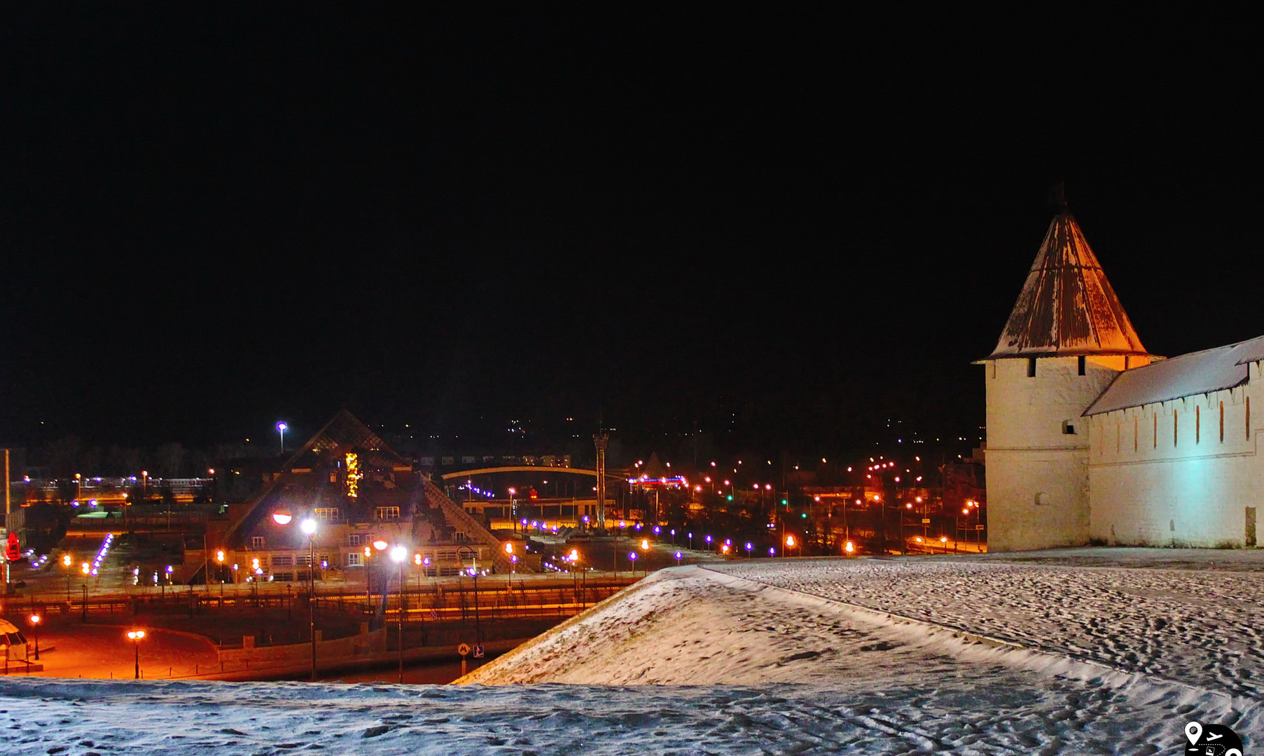 Вид с кремлевского вала, Казань
