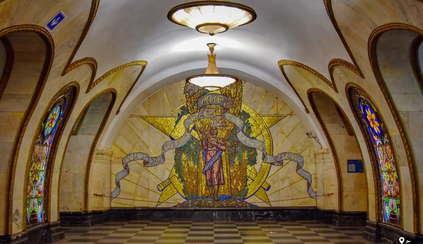 Московское метро (ст. Новослободская)