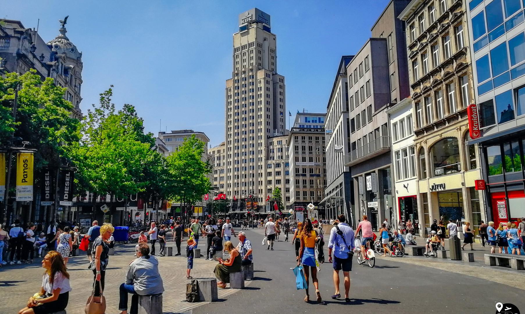 Центральные улицы Антверпена