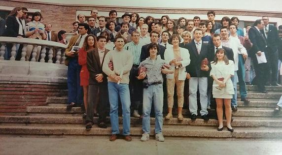 Graduación primera promocion INEF León 1992